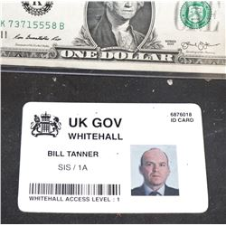 BOND JAMES 007 SPECTRE SCREEN USED GOVERNMENT AGENT ID