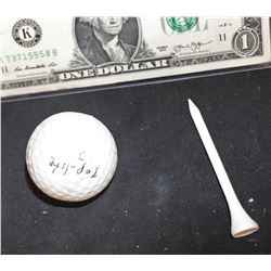 LOST JACK'S GOLF BALL AND TEE