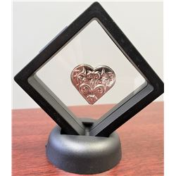 1-oz pure .999 silver heart