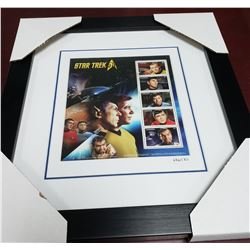Star Trek 50th Anniversary framed stamp pane