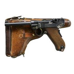 EARLY SWISS 1900 LUGER, COMMERCIAL BERN REWORK,