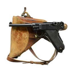 LATE SWISS BERN 1929 COMMERCIAL LUGER, HOLSTER.