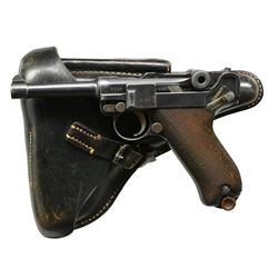 ERFURT MODEL 1908 MILITARY LUGER SEMI-AUTO PISTOL.