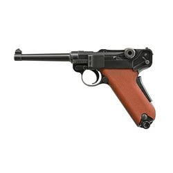1929 SWISS MILITARY LUGER SEMI-AUTO PISTOL.