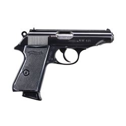 POLICE MARKED WALTHER MODEL PP SEMI-AUTO PISTOL.