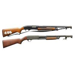 2 TRENCH STYLE PUMP SHOTGUNS.