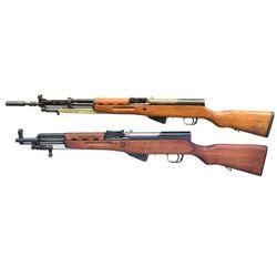 1 YUGOSLAVIAN MODEL 59/66 SKS & 1 NORINCO SKS SEMI