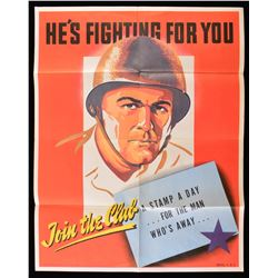 WWII US SAVINGS STAMP POSTER.