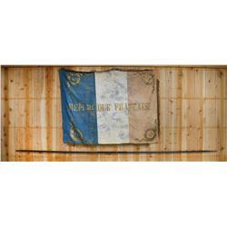 WWI FRENCH REGIMENTAL FLAG & GERMAN CAVALRY