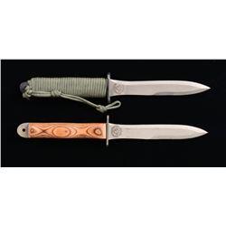 2 COMMEMORATIVE EK STYLE KNIVES.