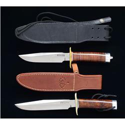 2 RANDALL MADE KNIVES & 1 SHEATH.