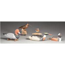 5 CONTEMPORARY BIRD DECOYS.