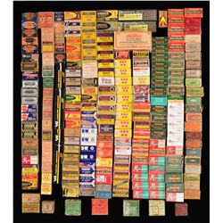 LARGE LOT OF COLLECTIBLE RIMFIRE & CASELESS AMMO.