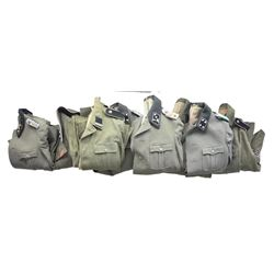 9 REPRODUCTION WWII GERMAN SS TUNICS.