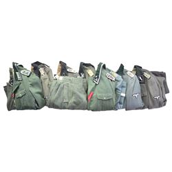 8 WWII GERMAN REPRODUCTION SS TUNICS & 1