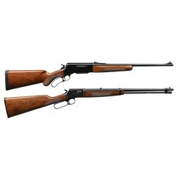 2 BROWNING LEVER ACTION RIFLES.