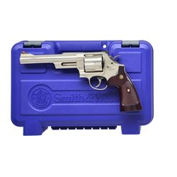 SMITH & WESSON NICKELED MODEL 29-10 REVOLVER.