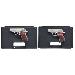 CONSECUTIVE PAIR OF S&W WALTHER PPK/S ROYAL SCOT