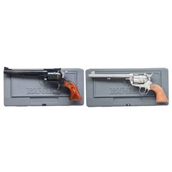 2 RUGER LARGE CALIBER SINGLE ACTION REVOLVERS.