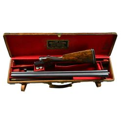 WILLIAM EVANS BOXLOCK EJECTOR GAME GUN WITH CASE.