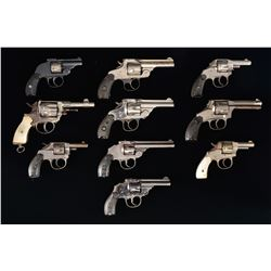 10 DOUBLE ACTION REVOLVERS.