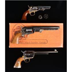 3 CASE COLORED CENTERFIRE WHEEL GUNS.