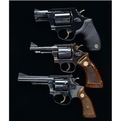 3 DOUBLE ACTION REVOLVERS.