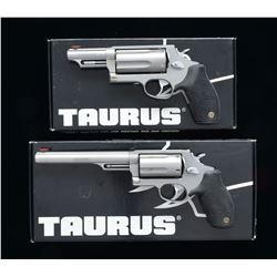 2 TAURUS M4510 JUDGE REVOLVERS.