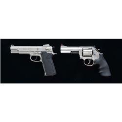 2 S&W STAINLESS HANDGUNS; MODELS 4506 & 686-5.
