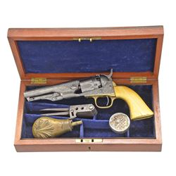 CASED CIVIL WAR FACTORY ENGRAVED COLT MODEL 1862