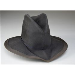 RARE CONFEDERATE OFFICERS SLOUCH HAT WORN