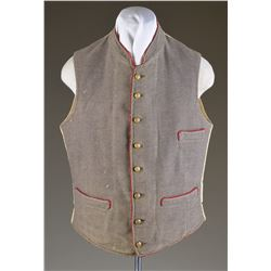 FINE CONFEDERATE ARTILLERY OFFICERS VEST WORN BY