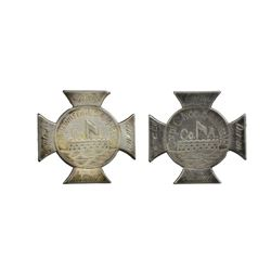TWO EXCEEDINGLY RARE 54TH MASSACHUSETTS SILVER