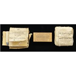 3 ORIGINAL PACKS OF CIVIL WAR AMMUNITION.