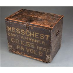CIVIL WAR MESS CHEST OF THE 55TH PENNSYLVANIA