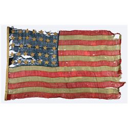 MISC. GROUPING INCLUDING CIVIL WAR FLAG, BADGE &