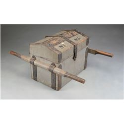 EARLY 19TH CENTURY MILITIA ARTILLERY LIMBER CHEST.