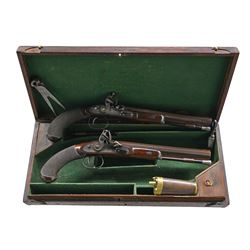 BEAUTIFUL PAIR OF CASED ENGLISH LARGE BORE