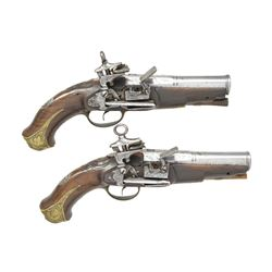 PAIR OF EARLY SPANISH MIQUELET PISTOLS CIRCA 1790.