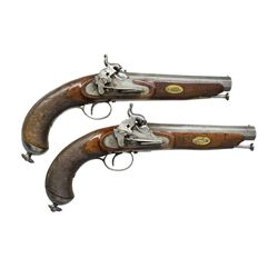PAIR OF PRESENTATION SPANISH PERCUSSION PISTOLS.