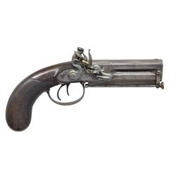 GRIERSON, LONDON O/U FLINTLOCK PISTOL.