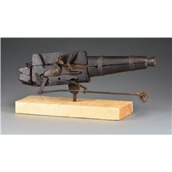 18TH CENTURY FLINTLOCK CEMETERY GUN.