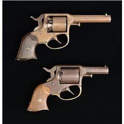 2 REMINGTON-RIDER POCKET MODEL DA REVOLVERS.