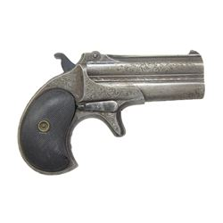 REMINGTON MODEL 95 ENGRAVED O/U DERRINGER.