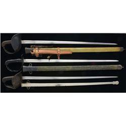 3 M1913 CAVALRY SWORDS.