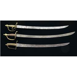 3 18TH CENTURY SWORDS.