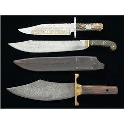 3 BOWIE & BELT KNIVES.