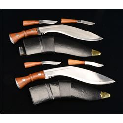 2 INDIAN KOOKRIE MK 3 KNIVES.