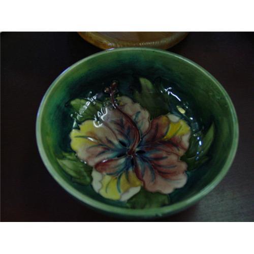 Moorcroft Bowl Hibiscus Pattern #852472