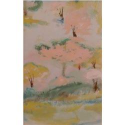 One vertical scene in LangdonArt's 925A painting study -une scène verticale en l'étude peinture 925A